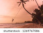Palm Swing in Unawatuna, Sri Lanka