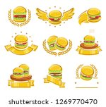 hamburger labels and elements... | Shutterstock .eps vector #1269770470