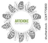 artichoke hand drawn vector... | Shutterstock .eps vector #1269770800