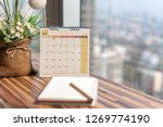 notebook diary with pencil vase ... | Shutterstock . vector #1269774190