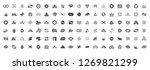 abstract logos collection with... | Shutterstock . vector #1269821299