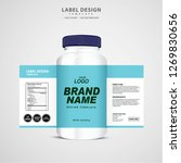 bottle label  package template... | Shutterstock .eps vector #1269830656