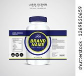 bottle label  package template... | Shutterstock .eps vector #1269830659