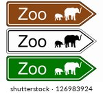 direction sign zoo | Shutterstock .eps vector #126983924