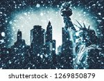new york city. winter concept.... | Shutterstock . vector #1269850879