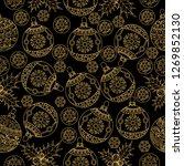 seamless pattern. christmas... | Shutterstock .eps vector #1269852130