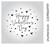 valentines day lettering vector ... | Shutterstock .eps vector #1269866959