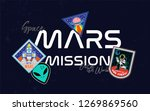 mars mission rocket fly up in... | Shutterstock .eps vector #1269869560