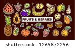 fruits and berries. hand drawn... | Shutterstock .eps vector #1269872296