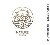 vector logo of nature in linear ... | Shutterstock .eps vector #1269873556