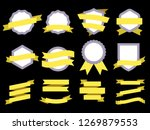 flat ribbon banner badge.... | Shutterstock .eps vector #1269879553