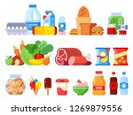 food products. packed cooking... | Shutterstock .eps vector #1269879556