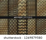 art deco pattern. golden... | Shutterstock .eps vector #1269879580