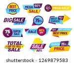 sale tags. retail sales... | Shutterstock .eps vector #1269879583