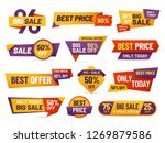 retail sale tags. cheap price... | Shutterstock .eps vector #1269879586