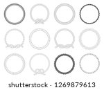 round rope frame. circle ropes  ... | Shutterstock .eps vector #1269879613