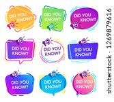 did you know labels.... | Shutterstock .eps vector #1269879616