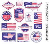 made in usa logo. american... | Shutterstock .eps vector #1269879619