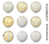 white abstract balls with... | Shutterstock .eps vector #1269882916