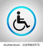 wheelchair handicap icon... | Shutterstock . vector #1269883573