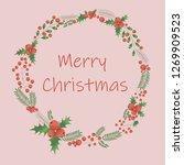 merry christmas vector | Shutterstock .eps vector #1269909523