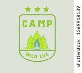 camping wild life. vector logo. ...   Shutterstock .eps vector #1269918139