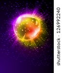 raster version. sparkling disco ... | Shutterstock . vector #126992240