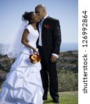 african american just married... | Shutterstock . vector #126992864