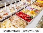 Various Flavors Of Gelato Ice...