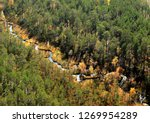 An Airview On A Small Taiga...