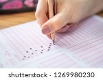 pencil drawing selected choice... | Shutterstock . vector #1269980230