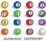 billiard  pool balls collection....   Shutterstock .eps vector #1269982489
