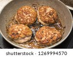 homemade chicken cutlets fried... | Shutterstock . vector #1269994570