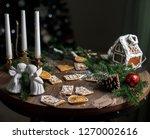 homemade gingerbread cookies ... | Shutterstock . vector #1270002616