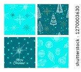 beautiful seamless christmas...   Shutterstock .eps vector #1270003630