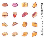 american food and cheeses set.... | Shutterstock .eps vector #1270006963