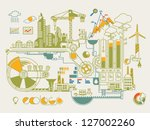 ecology info graphic city | Shutterstock .eps vector #127002260