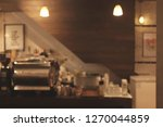 empty cafe or bar interior ... | Shutterstock . vector #1270044859
