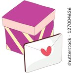 a vector illustration of gift... | Shutterstock .eps vector #127004636