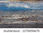 dark mineral ilmenite... | Shutterstock . vector #1270050670