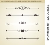 set 2 of easter calligraphic... | Shutterstock .eps vector #127005668