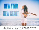 new year 2019 resolution. new... | Shutterstock . vector #1270056709