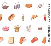american food and japanese food ... | Shutterstock .eps vector #1270059133