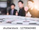 target and goal concept  dart... | Shutterstock . vector #1270060480