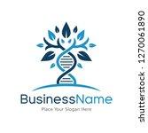 dna genetic vector logo... | Shutterstock .eps vector #1270061890