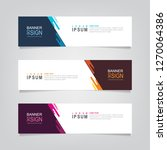 vector abstract web banner... | Shutterstock .eps vector #1270064386