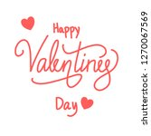 happy valentines day ... | Shutterstock .eps vector #1270067569