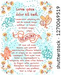 fancy template with whimsical... | Shutterstock .eps vector #1270069519