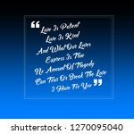 love quote love is patient ... | Shutterstock . vector #1270095040