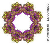 purple  yellow color decorative ... | Shutterstock .eps vector #1270098070